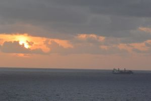 Caribbean Sunset, Chugging Along 4 by Miss-Tbones