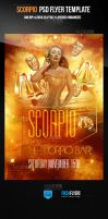 Scorpio Party Flyer Template by ImperialFlyers