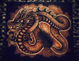 Chinese Dragon Box Top by KenazArt