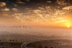 Foggy Dubai by vinayan