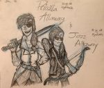 Destiny - Water Sword and Fire Bow Sisters by Beginneratart