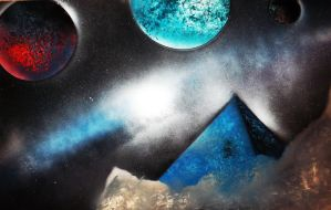 Space Art 4 | Godly Pyramid by dave-simon