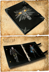 Leather Notebook Gwynbleidd (inspired The Witcher) by Svetliy-Sudar