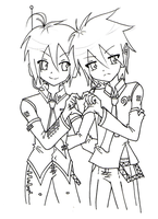 Mikuo and Rei Smile by KiraiRei