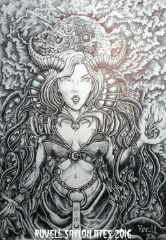 End to a year of work .  .  . ( Lilith ) by RuvellKhaosArt