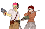Fallout 3: Mark and Rie-Rie by Jacob-Cross