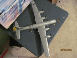 B-29 Superfortress: Top View by cloudyrainbow561