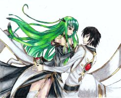 CC and lelouch by screwston12