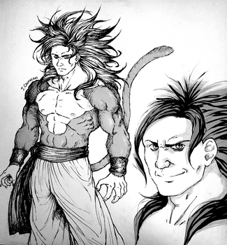 Redesign Goku Super Saiyan 4 by Aethereo