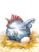 The blue chicken by Riana-art