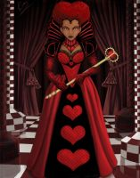 Ebony Queen of Hearts by KiraTheArtist