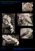 Reshiram Plushie Ver. 2 by Monster-House-Fan92