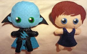 Megamind Plushies by Frotu