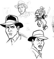 Indiana Jones Sketches 3 by cretineb