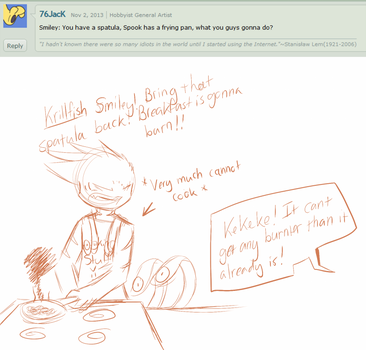 Ask the 'Devivs: Spatulas and Frying Pans by Void-Shark