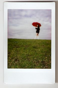 polaroid red umbrella3 by fredaaa