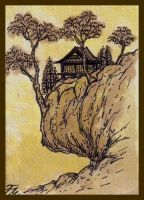 Asian Landscape IV ATC by ATCs-By-Faeorain