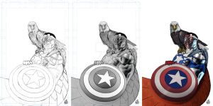 ALL-NEW CAPITAN AMERICA PROCESS. by orabich