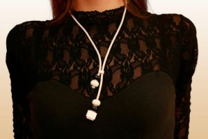 macintosh cable necklace by kickthebucket