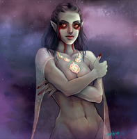 Skyrim dark elf by myks0