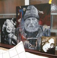 monroe, homeless man, Lennon by artbydavidc