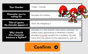 Voting for knuckles by supersilver27