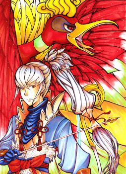Crossover - Takumi and Ho-Oh - by Halouette