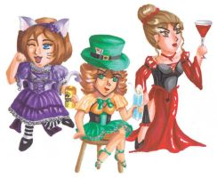 Mad Hatter's Cocktail Party by jadedphoenix