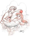 Aladdin and Ariel trade by tombancroft