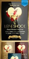 Love Shock Valentine's Day Flyer Templates by ImperialFlyers