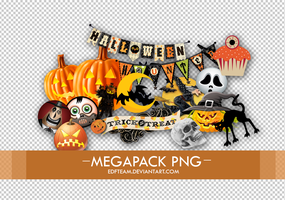 Halloween pngs +Megapack by EDFTeam