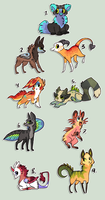 Point adoptable designs SOLD by griffsnuff