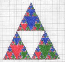 Coloured Sierpinski Gasket by hektor41