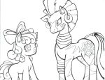 zecora and applebloom by puppetstringz