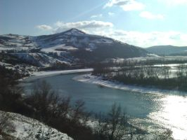 Somes River in the Winter by SDolha