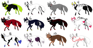 female Wolf Adopts by SweetApplecookie