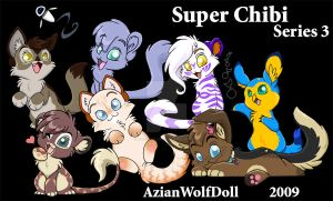 Super Chibis Series 3 by azianwolfdoll