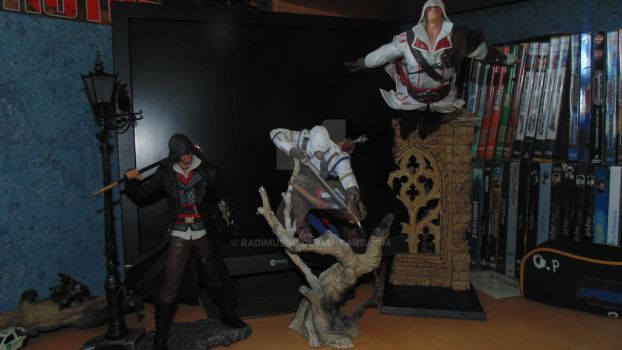 my statues of AC by RadimusSG