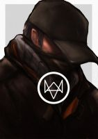 Adien Watch Dogs speedpaint by faruuk-sama