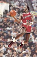 Michael Jordan Dunk by atticusforever