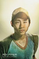 The Walking Dead: Glenn: Sketch Re-Edit by nerdboy69