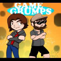 Drawing challenge day#2- GAME GRUMPS! by zackhedgi