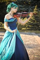 Playing violine by Mademuazel-Demi