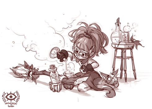 Little Witch - potions by CosmicSpectrumm