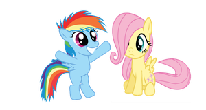 Rainbow Dash and Fluttershy fillies by RainbowsStar