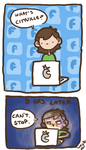 Random Comic No.3: Facebook by geothebio
