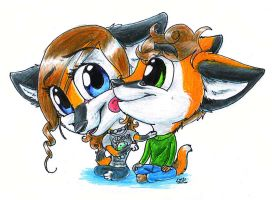 Neex and Slin 3$ Chibis by T-Ingles