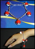 Pokeball Charm Bracelet by YellerCrakka
