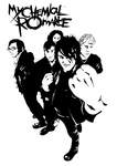 My Chemical Romance in Black by Down-a-Rabbit-Hole