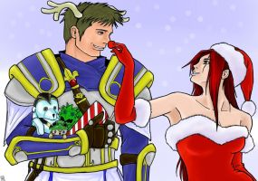 Christmas in Valoran (Garen and Katarina) by The-Piojolopez